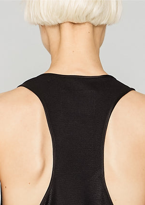 TANK TOP OVERSIZED - TECH LACES STRETCH black