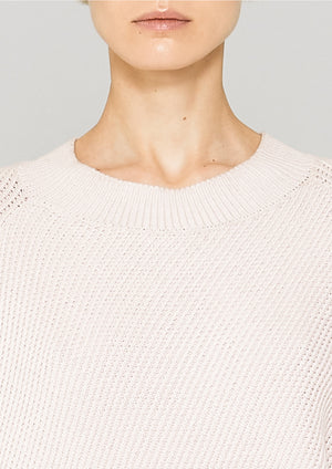 SWEATER - KNIT BIAS RIB ivory
