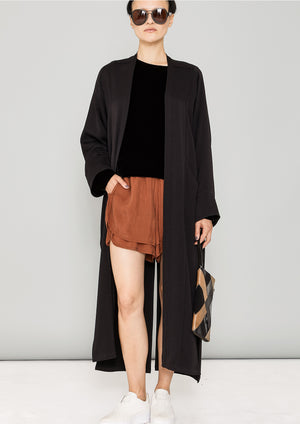 CARDIGAN LONG - HEAVY DRAPING black