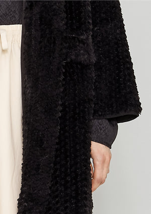 CARDIGAN - FAUX RHOMB FUR black