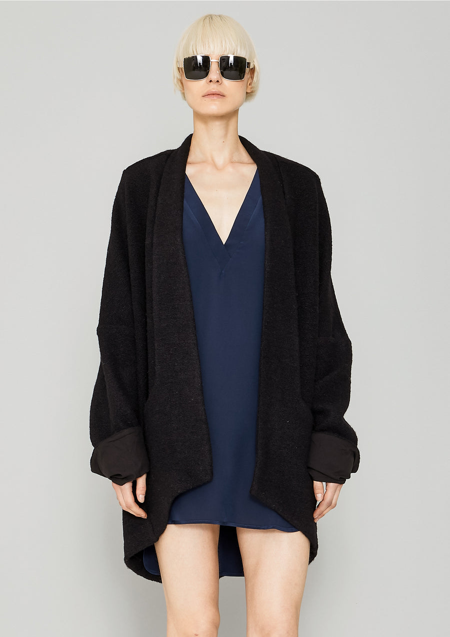 CARDIGAN - WOOL BLEND black