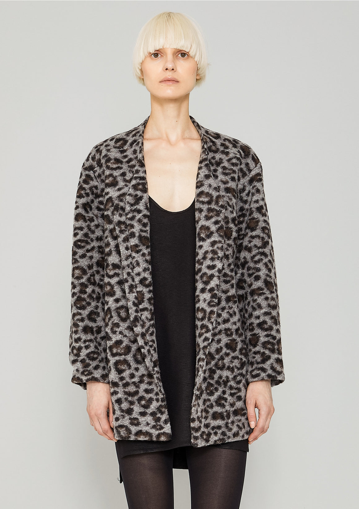 CARDIGAN - WOOL animal print