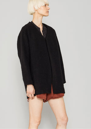 CARDIGAN - WOOL BLEND black - BERENIK