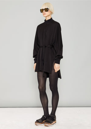 JACKET/DRESS - HEAVY DRAPING black