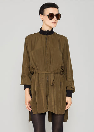 JACKET/DRESS - SILKY CUPRO khaki - BERENIK
