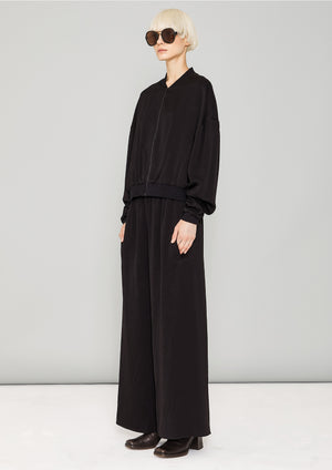 BOMBER JACKET - HEAVY DRAPING black