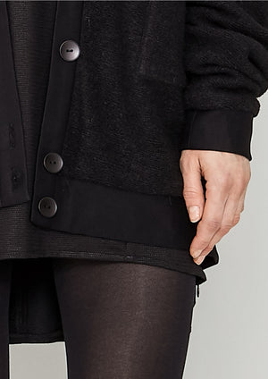 PILOT JACKET - WOOL BLEND black