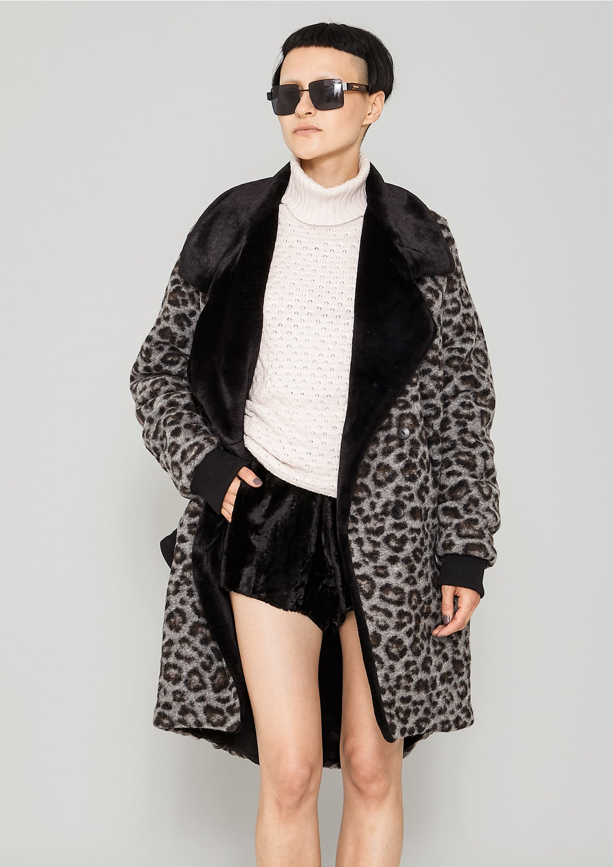 decfc98547 COAT FUR LINING - WOOL COATING animal print