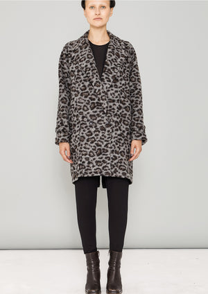 COAT - WOOL COATING animal print
