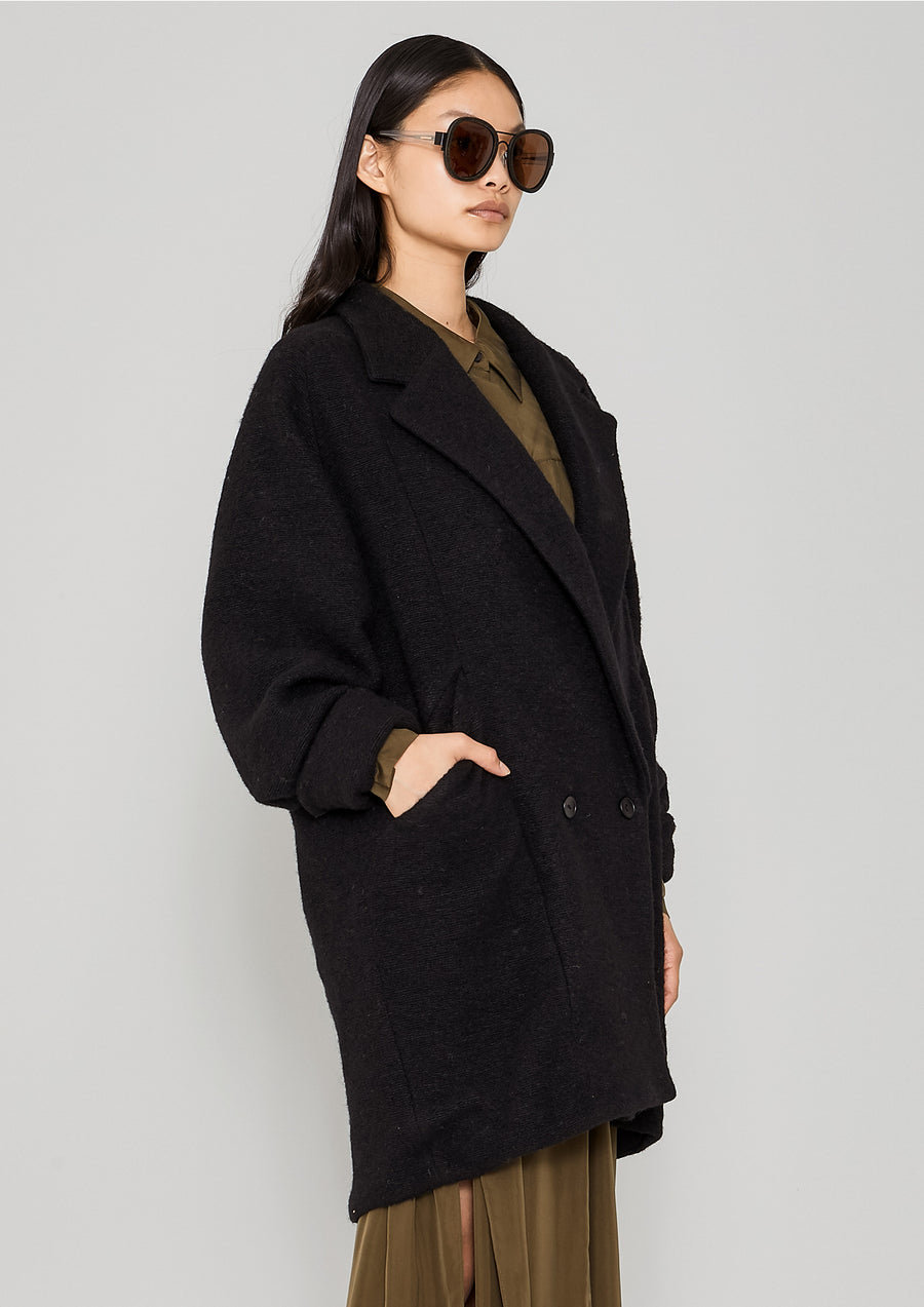 COAT - WOOL BLEND black