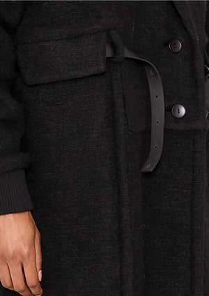 COAT LONG - WOOL BLEND black