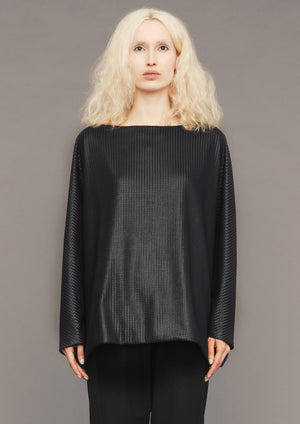 SWEATER POCKETS TRIACETATE TECK KNIT BLACK