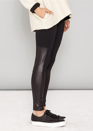 LEGGINGS - black mat/shiny