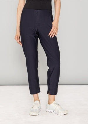 TROUSERS STRETCH - JACQUARD STRETCH dark blue