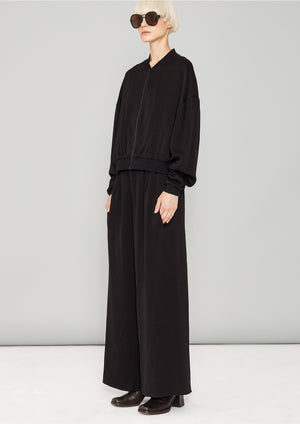 PANTS WIDE ELASTIC- HEAVY DRAPING black