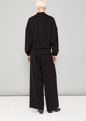 PANTS WIDE ELASTIC- HEAVY DRAPING black - BERENIK