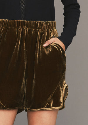 SHORTS - SILK VELVET gold