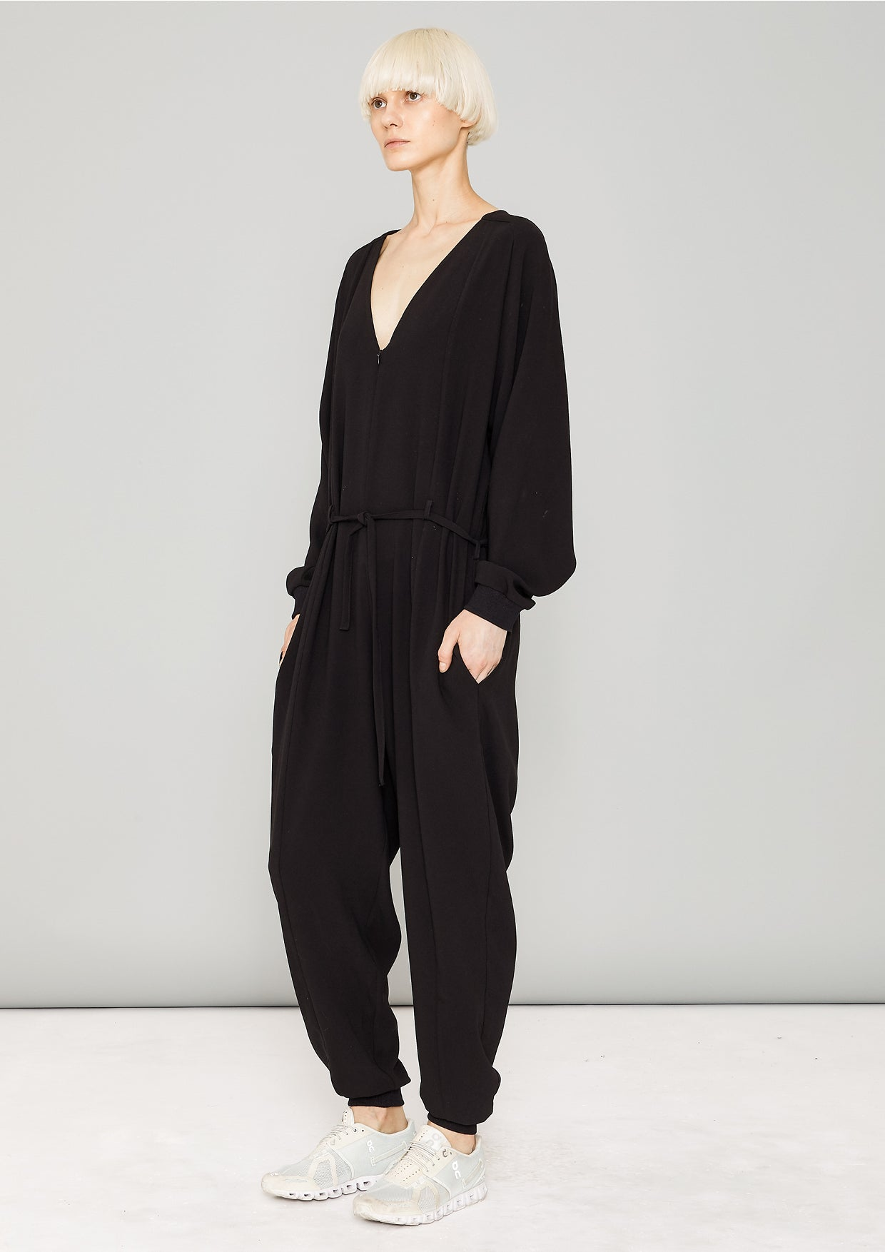 1ea2593d833b JUMPSUIT LONG OVERSIZED - HEAVY DRAPING black - BERENIK