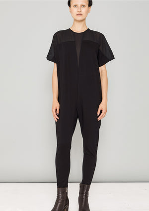 JUMPSUIT STRETCH - COTTON JERSEY black - BERENIK