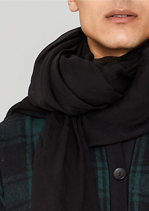 SCARF - SILK MOUSSELINE black