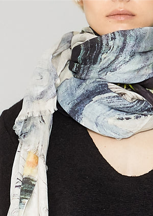 SCARF FRINGE - SOFT MODAL printed drawings