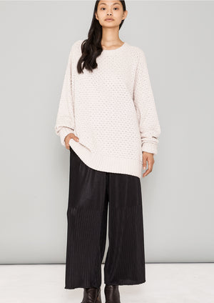 SWEATER OVERSIZE - KNIT PEARL ivory - BERENIK