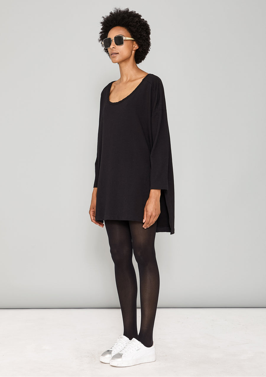 SWEATER TIGHT SLEEVES - COTTON JERSEY black