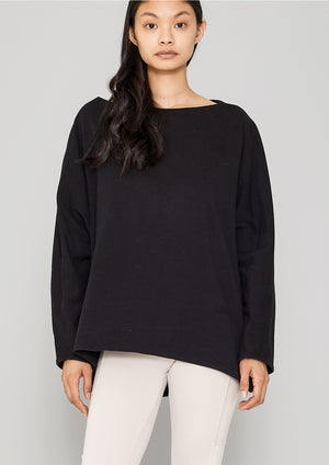 SWEATER POCKETS - COTTON JERSEY black