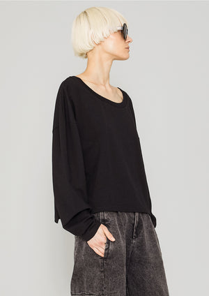 SHIRT LONG SLEEVES - COTTON JERSEY black