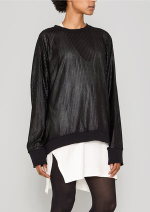 OVERSIZED SWEATER - TRIACETATE TECH KNIT black