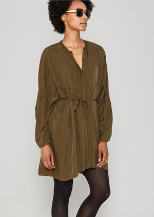 BLOUSE/DRESS - SILKY CUPRO khaki