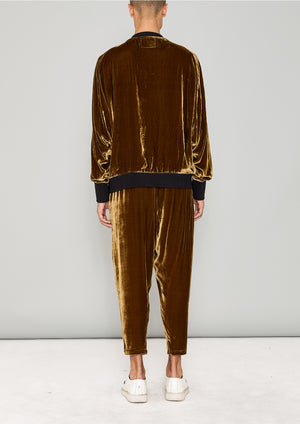 SWEATER OVERSIZED - SILK VELVET gold