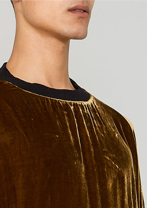 SWEATER OVERSIZED - SILK VELVET gold - BERENIK
