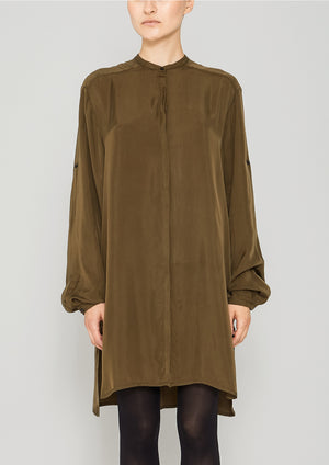 BLOUSE LONG - SILKY CUPRO khaki