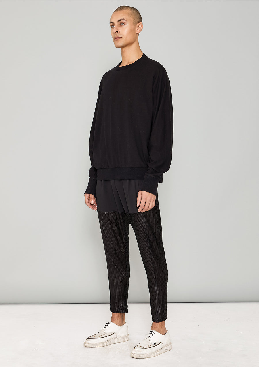 SWEATER OVERSIZED - COTTON JERSEY black