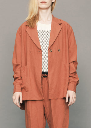 SUMMER BLAZER/JACKET - LINEN brick