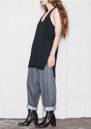 TANK TOP/DRESS - COTTON JERSEY black