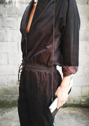 LIMITED EDITION - WINTER JUMPSUIT - CORD dark brown