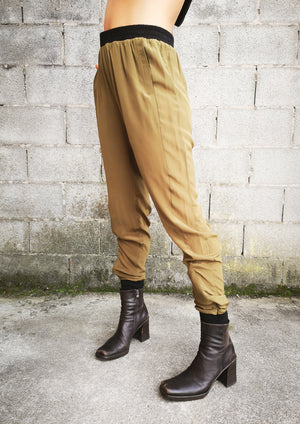 LIMITED EDITION - SILK PANTS - khaki