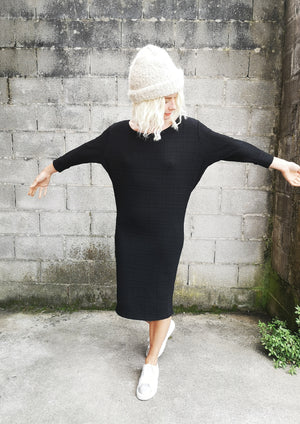 LIMITED EDITION - WINTER DRESS LONG STRETCH - black