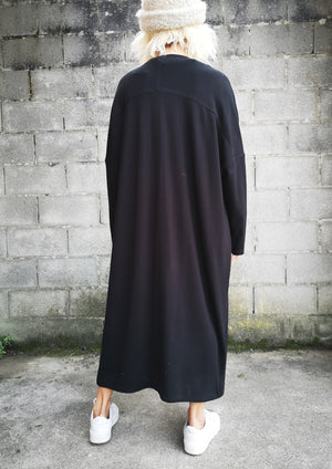 LIMITED EDITION - CARDIGAN STRETCH LONG - black