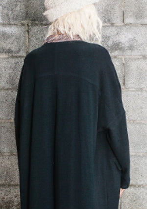 LIMITED EDITION - CARDIGAN STRETCH LONG - black - BERENIK