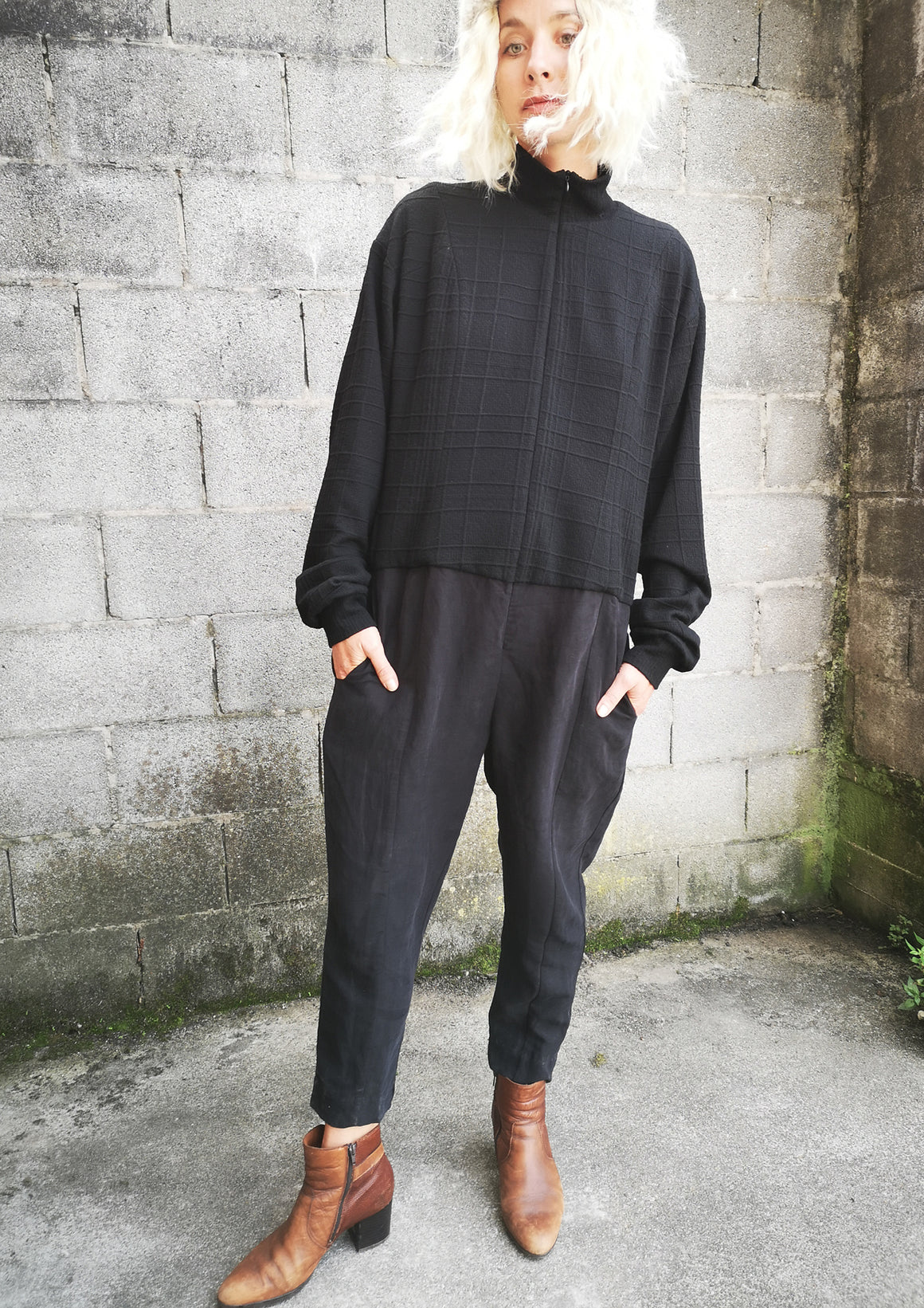 LIMITED EDITION - JUMPSUIT WINTER TURTLENECK ZIP - black