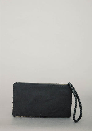 PURSE - LEATHER w. Pearl Embroidery - BERENIK