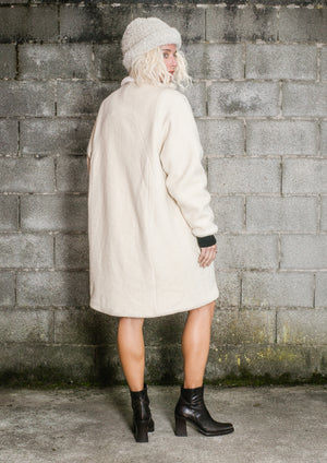 LIMITED EDITION - WINTER COAT WOOL/FAUX FUR - ivory