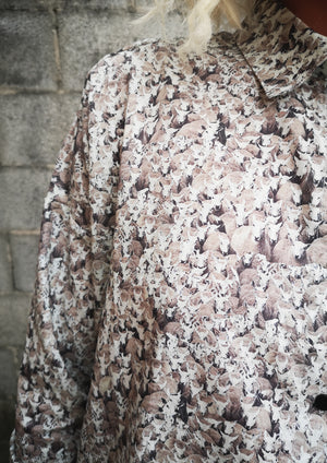 LIMITED EDITION - BLOUSE BUTTON DOWN - COTTON PRINTED sheep