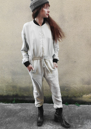 LIMITED EDITION - JUMPSUIT - CUPRO light grey