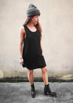 LIMITED EDITION - DRESS - FRINGE black - BERENIK