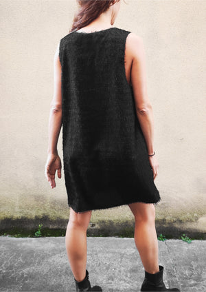 LIMITED EDITION - DRESS - FRINGE black