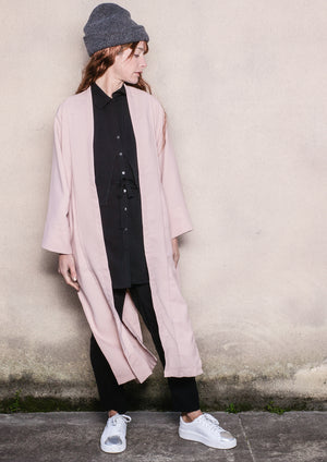 CARDIGAN LONG - TWILL BIAS nude